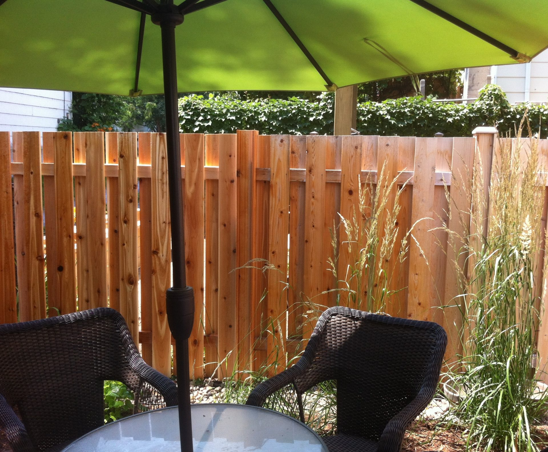 Vented Fence in Western Red Cedar