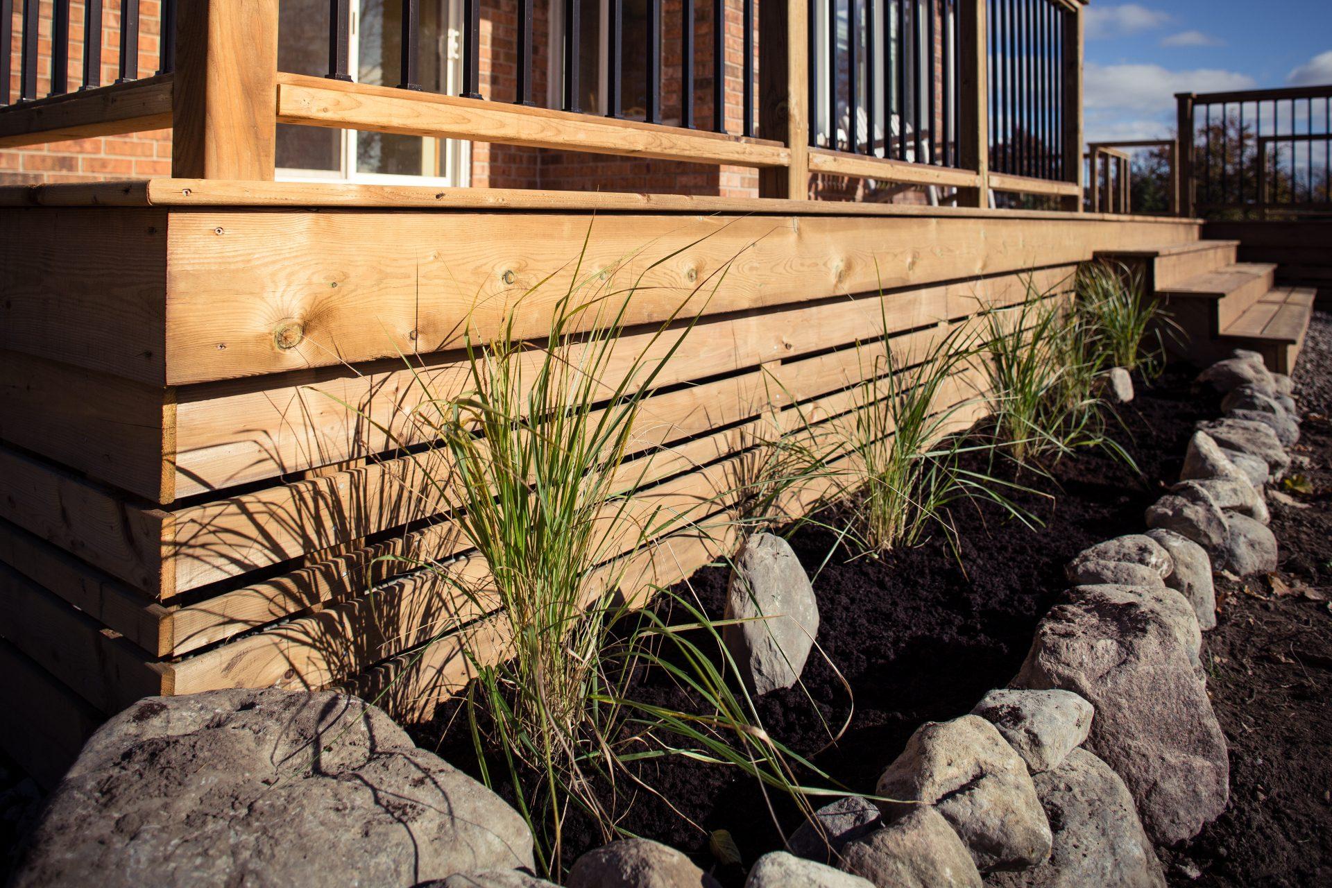 Deck with Garden